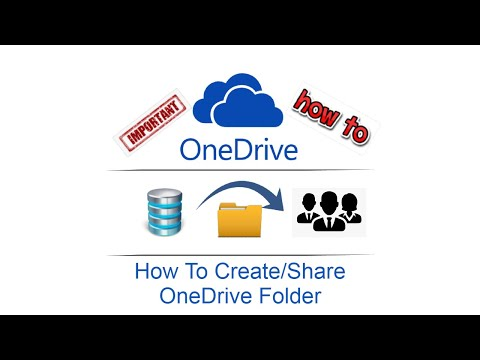 How To Create/Share OneDrive Folder