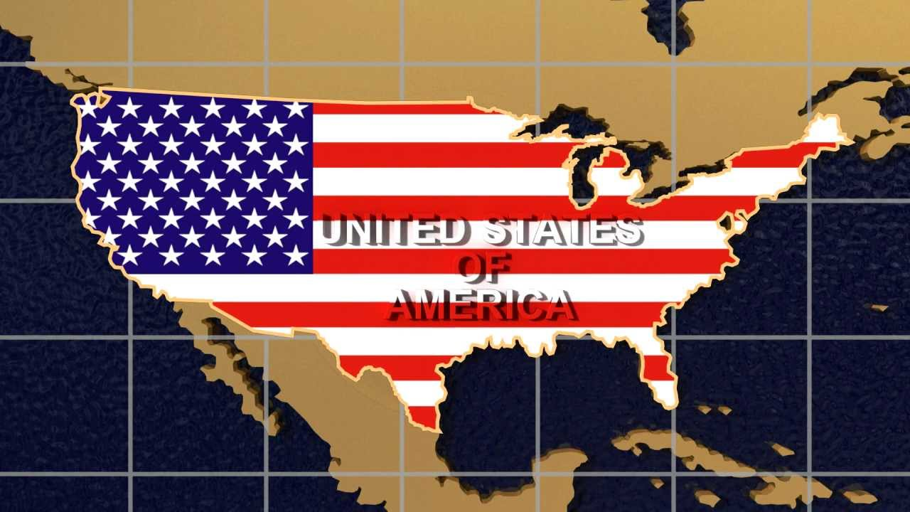 USA Map And Flag Zoom Out On Spinning Globe YouTube - Us map zoomable