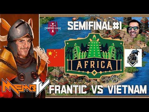 AoE2 Champions League - Africa 2v2 Semifinals Frantic vs Vietnam Legends