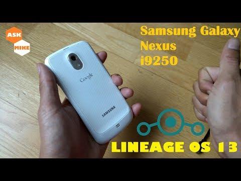 Flash LineageOS 13 Samsung Google Galaxy Nexus I9250