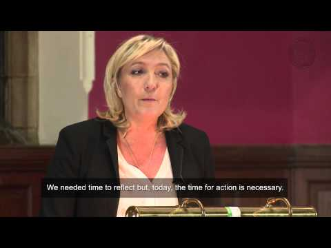 Marine Le Pen - Full Address and Q&A (English Subtitles)