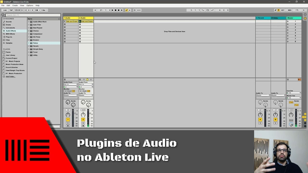 plugins de audio do ableton live lite | tutorial de ableton live 9