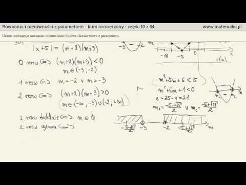 Równania I Nierówności Z Parametrem - Kurs Rozszerzony