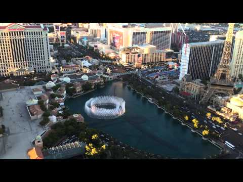 Bellagio fountains from 59th floor of the cosmopolitan for Terrace one bedroom fountain view