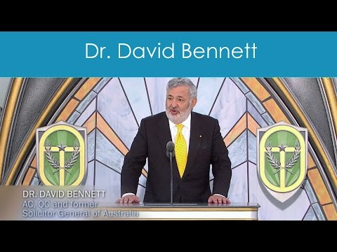 Dr. David Bennett  AC, QC and former Solicitor General of Australia
