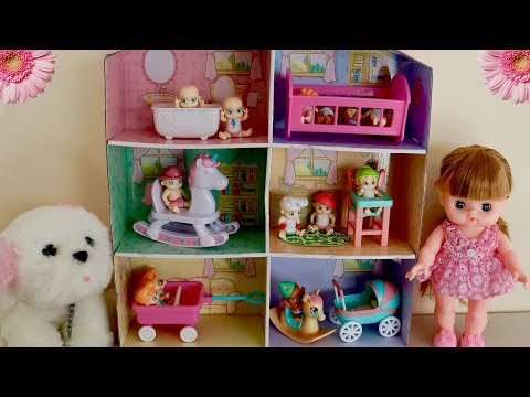 Baby Secrets Dolls & Dolls Pram Rocking Horse Highchair Nursery Center Toys & Diaper Color Change