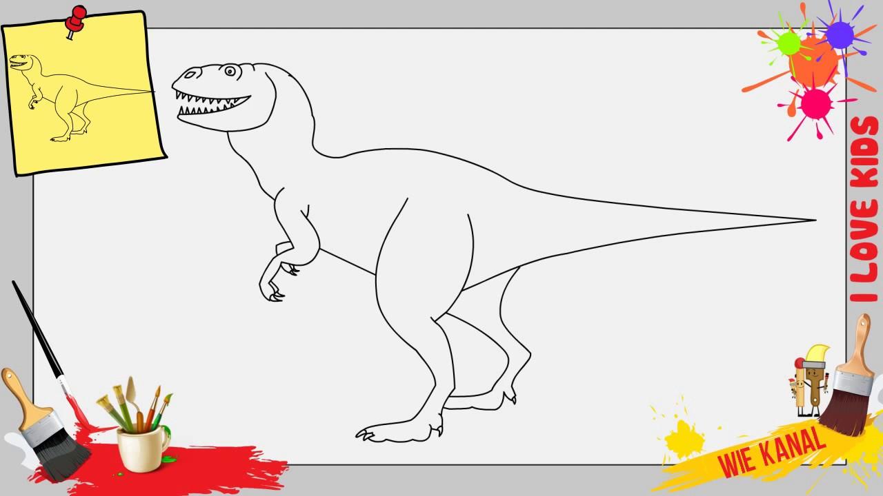 Dinosaur Zeichnen Schritt Für Schritt Für Anfänger Kinder Zeichnen Lernen