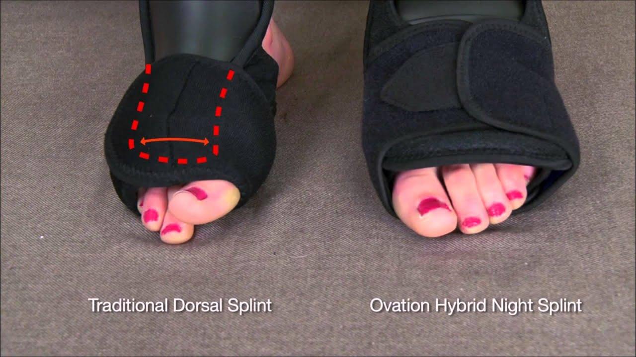 Hybrid Dorsal Foot Night Splint Plantar For Fasciitis Youtube