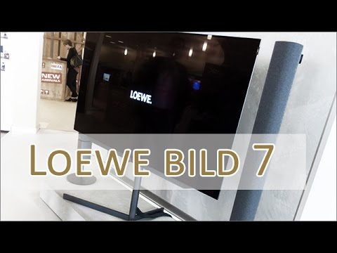 ifa 2016 loewe bild7 uhd oled 4k display mit soundbar youtube. Black Bedroom Furniture Sets. Home Design Ideas