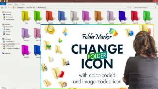 "Changing  ""Folder Color"" or Icon in Windows 7, 8 ,10 PC  [Easily Method]"