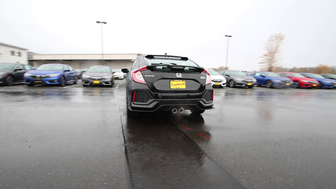2018 Honda Civic Sport Touring   Crystal Black Pearl   JU400456   Seattle    Sumner  