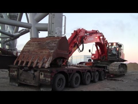Volvo FH16 660 10x4 Taking On The Hitachi Zaxis 470 LCH