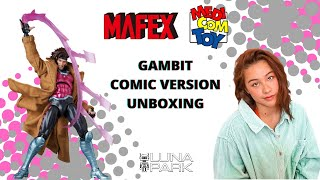 MAFEX Marvel Gambit comic version from MEDICOM TOY unboxing review