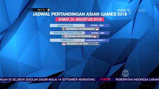 Download Video Perolehan Medali Sementara dan Jadwal Pertandingan Asian Games 2018 - NET 10 MP3 3GP MP4