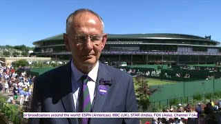 AELTC Chief Executive Richard Lewis with the Wimbledon Channel