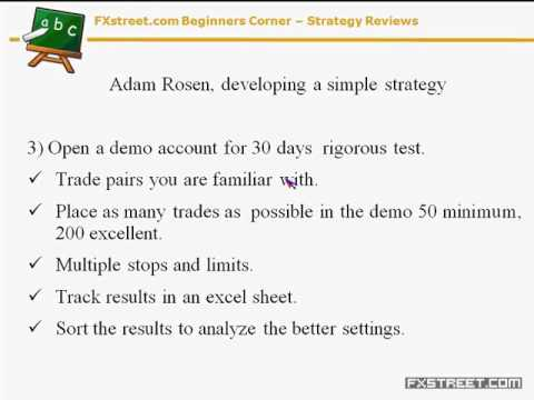 Valeria Bednarik: Beginners Corner – Adam Rosen's Strategies Review
