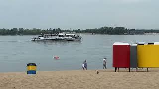 г. Самара, пляж и набережная реки Волга, 29 июля 2021г.