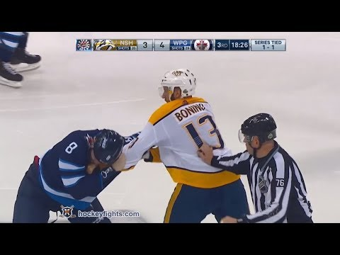 Nick Bonino vs Jacob Trouba May 1, 2018