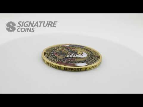 Edge Engraving for your Custom Challenge Coin - Signature