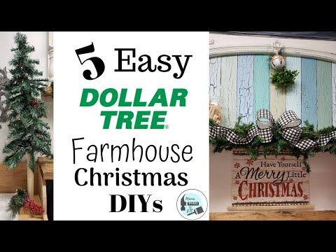 Easy Dollar Tree Farmhouse Christmas DIY's