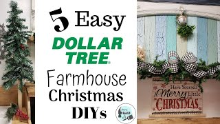 Easy Dollar Tree Farmhouse Christmas DIY's