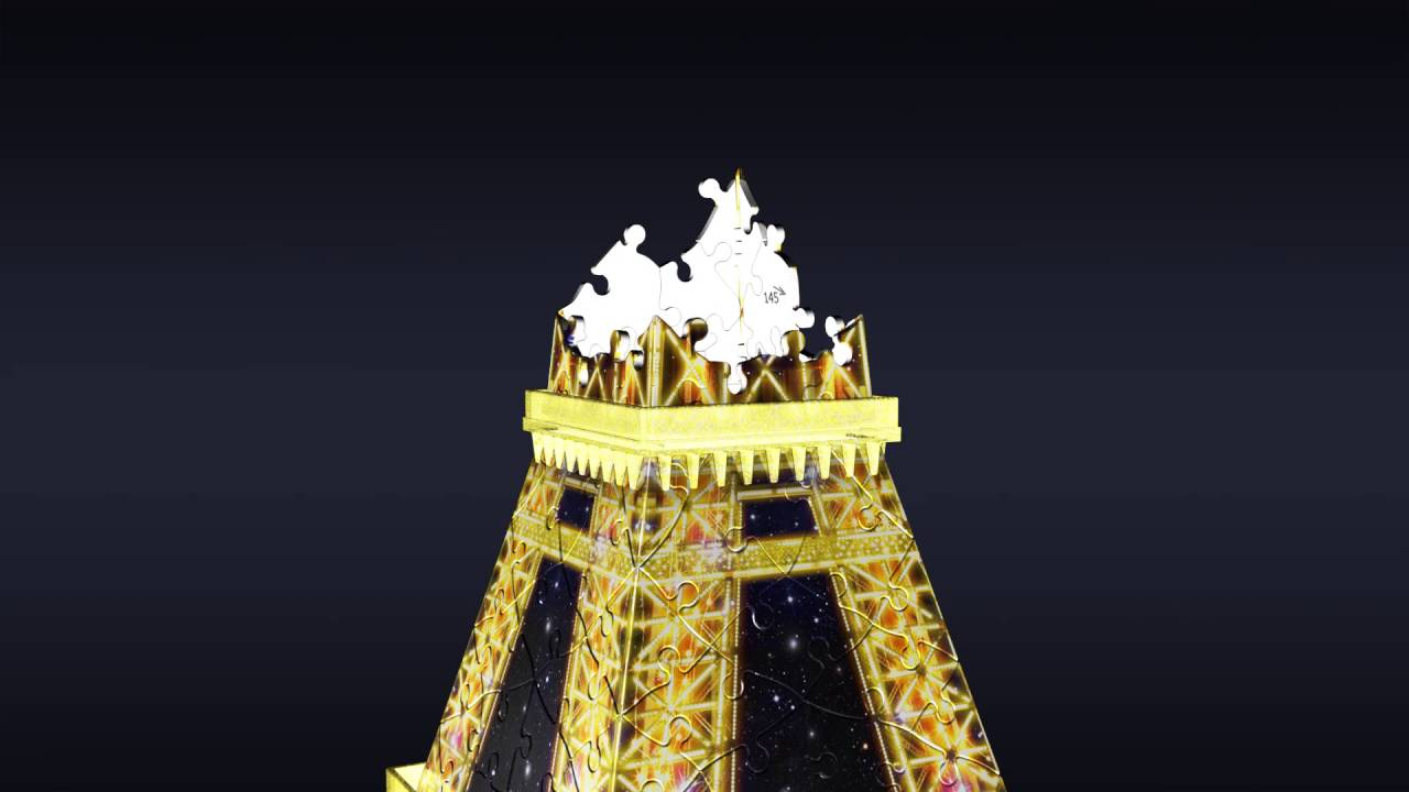 Smyths Toys Ravensburger 3d Eiffel Tower Puzzle With