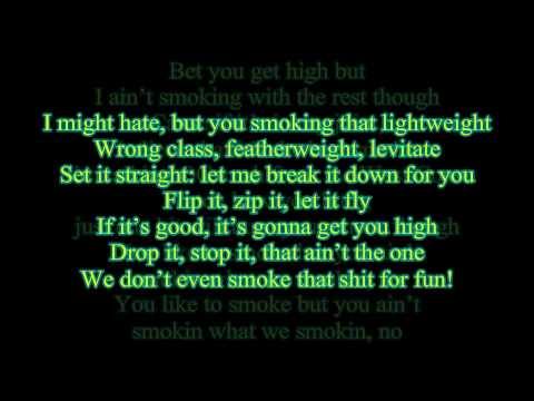 Smokin On - Snoop Dogg & Wiz Khalifa Feat. Jucy-J (Lyrics on Screen) (FULL 1080p HD)