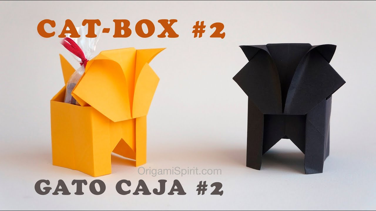 Halloween Cat And Candy Box 2 Gato Caja