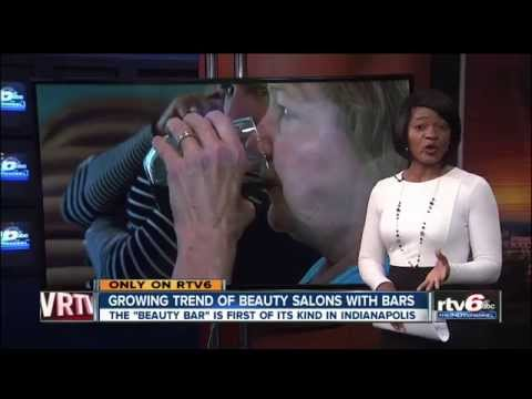 Beauty salon offers full-service bar