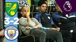 Highlights | Norwich City 3-2 Man City | Mclean, Cantwell, Aguero, Pukki, Rodrigo