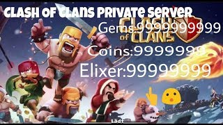 New Clash Of Clans Private Server | Unlimited Coins, Gems, Elixer, And More | Everything Cost 1 RC
