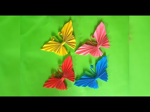 DIY: how to make Paper BUTTERFLY tutorial very EASY handcraft 😍