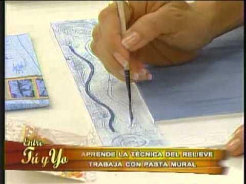 aprende a elaborar unos hermosos cuadros con la tcnica del relieve youtube - Cuadros Originales Hechos A Mano
