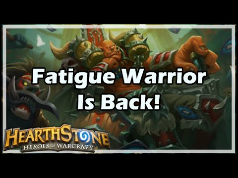 [Hearthstone] Fatigue Warrior Is Back!