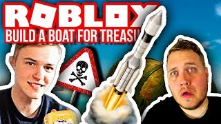 BOAT WITH ROCKET ON 🚀⛵ GOES COMPLETELY WRONG! :: Build a Boat for Treasure Dansk Roblox