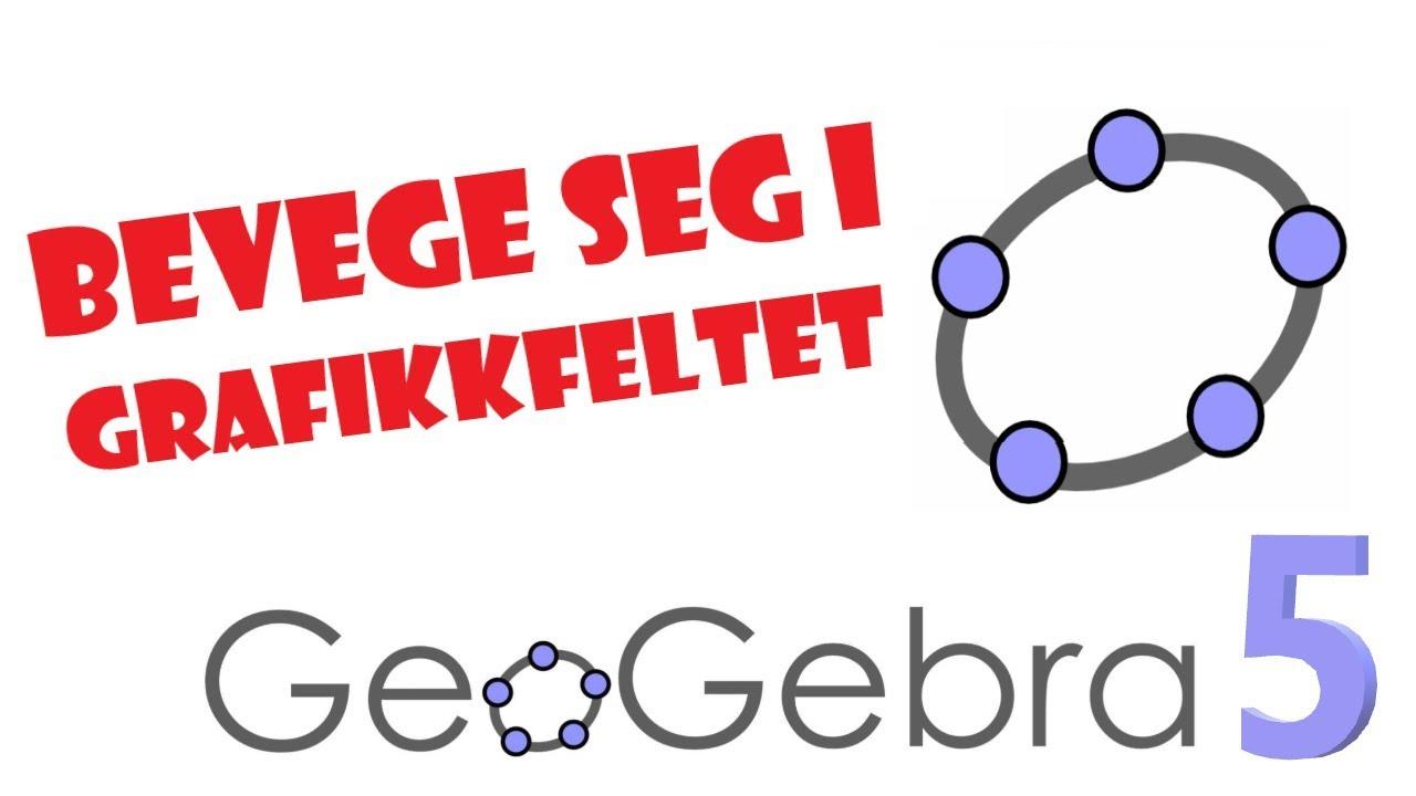 7. GeoGebra 5: Hvordan bevege seg rundt i koordinatsystemet / grafikkfeltet