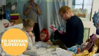 Ed Sheeran visits children's ward to serenade nine-year-old fan with rare brain condition