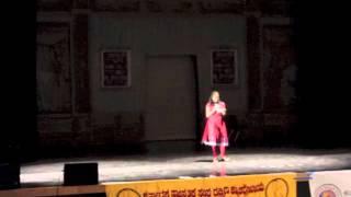 Raksha singing Araluthiru Jeevada Geleya @ KCA, So.Cal