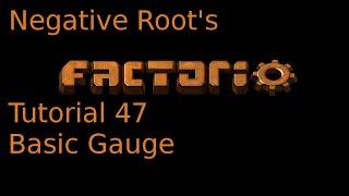 Factorio Tutorial 47 Basic Gauge