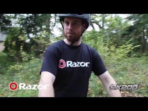 Электросамокат для бездорожья Razor RX200. Дёртовый электрический самокат от Razor.