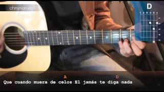 """Cómo tocar """"Un Nuevo Amor"""" de Tranzas en Guitarra (HD) Tutorial - Christianvib"""