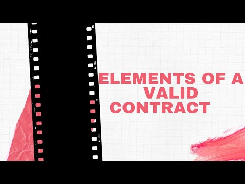 """""""Contract Law in Kenya (Part One): elements of a valid contract"""""""