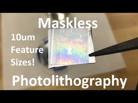 Maskless Photolithography with DLP Projector - 10um Feature Sizes