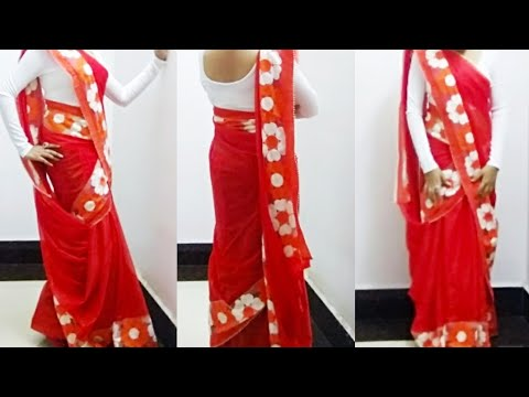 Reverse Mermaid Style Of Saree Draping | Fish Cut Style Saree Draping | Jalpari Style Saree Draping