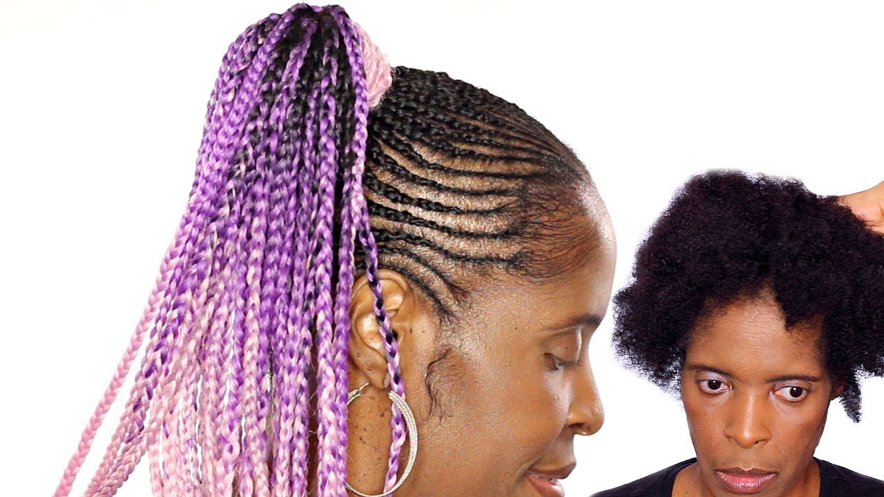 Hair Styles Feed In Braids: Feed In Braids Ponytail Short Natural Hairstyle