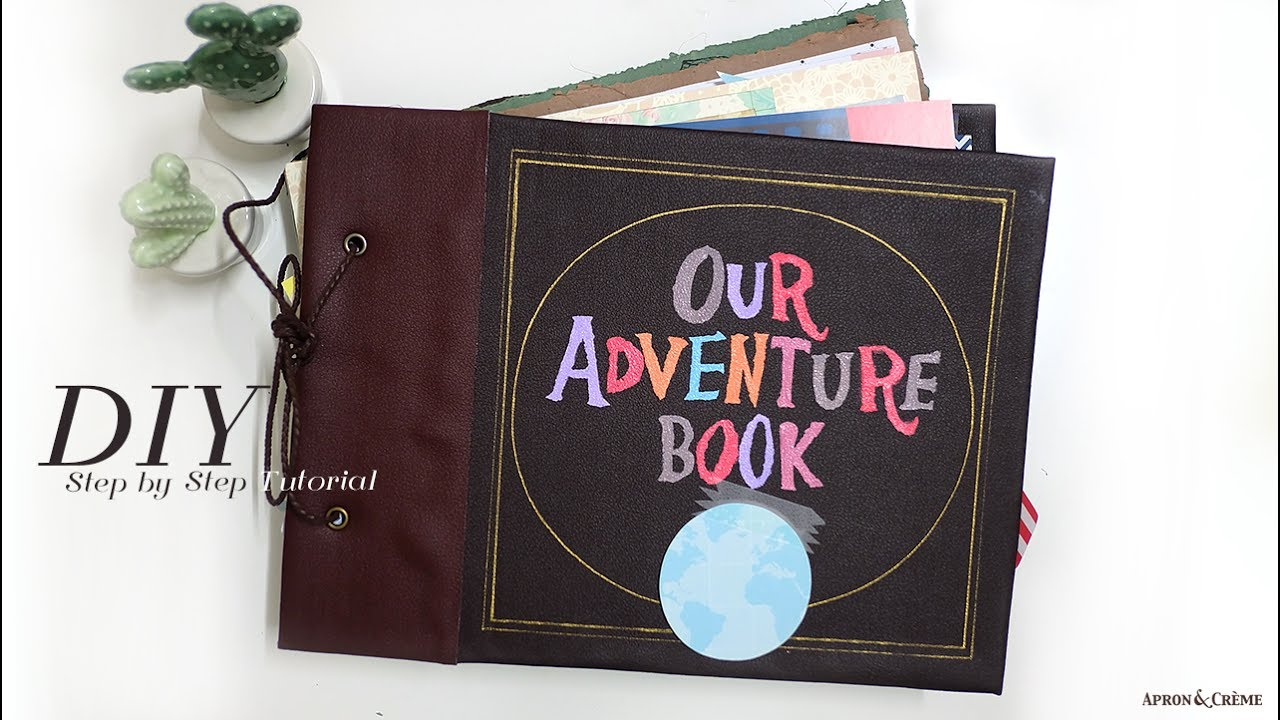 It is a picture of Our Adventure Book Printable with typography