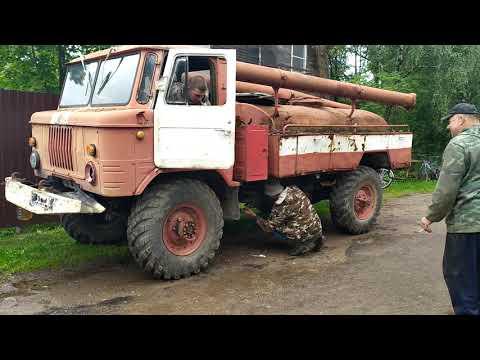 Газ 66 . Купили новую машину по цене метала ))) Первый запуск.