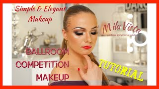 Ballroom Competition Makeup Tutorial - Step by Step Instructions