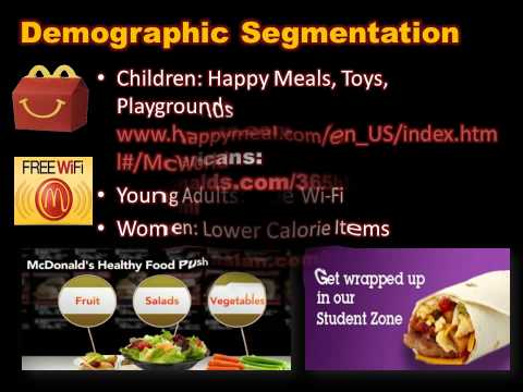 mcdonalds segmenting targeting positioning People's established attitudes and behaviors to the target audience in a   therefore, in mcdonald's case, audiences could be segmented in terms of age,.