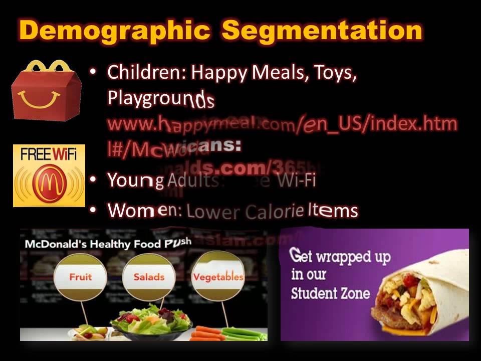 McDonalds' segmentation, targeting and positioning strategy